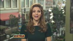 Maria Menounos - Extra 12/3   Leather Skirt