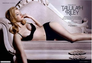 Telulah Riley Esquire sexy lingerie photoshoot